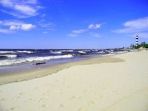 Bolderaja strand Royaltyfri Fotografi