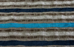 Boldly striped fabric. In grey and blue Stock Image