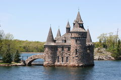 Boldt Castle. On Heart Island stock image