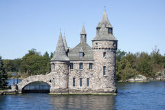 Boldt castle. Boldt castle located on Heart Island( New York) in the thousand islands of the Saint Laurence River Stock Photos