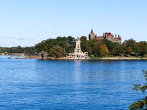 Boldt Castle. Located near Alexandria Bay New York on the St. Lawrence River, this castle was built in the Gilded Age by George Bolt as a present for his wife Stock Photography