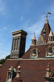 Boldt castle roof top Stock Images