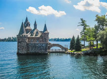 Boldt Castle, St Lawrence river, USA-Canada. Overview of Boldt Castle, St Lawrence river, USA-Canada Border royalty free stock images