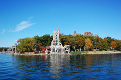 Boldt Castle in Thousand Islands, New York. Boldt Castle and Alster Tower on Heart Island, Thousand Islands region in Upstate New York, USA royalty free stock images
