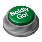 Boldy идет кнопка Стоковое Фото