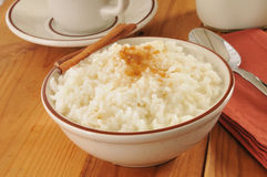 Boled rice with milk Stock Images