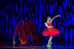 Bolero ballet. DNIPRO, UKRAINE - SEPTEMBER 7, 2018: Bolero ballet performed by members of the Dnipro State Opera and Ballet Theatre royalty free stock images