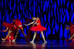 Bolero ballet. DNIPRO, UKRAINE - SEPTEMBER 7, 2018: Bolero ballet performed by members of the Dnipro State Opera and Ballet Theatre royalty free stock photos