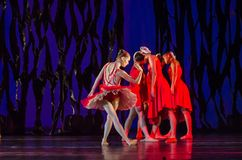 Bolero ballet. DNIPRO, UKRAINE - SEPTEMBER 7, 2018: Bolero ballet performed by members of the Dnipro State Opera and Ballet Theatre stock image