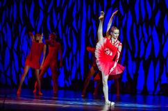 Bolero ballet. DNIPRO, UKRAINE - SEPTEMBER 7, 2018: Bolero ballet performed by members of the Dnipro State Opera and Ballet Theatre royalty free stock photo