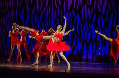 Bolero ballet. DNIPRO, UKRAINE - SEPTEMBER 7, 2018: Bolero ballet performed by members of the Dnipro State Opera and Ballet Theatre royalty free stock image