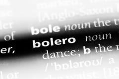 Bolero. Word in a dictionary.  concept stock photography