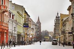 Bolesław I Brave street in Gniezno. Poland Royalty Free Stock Image