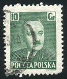 Boleslaw Bierut. POLAND - CIRCA 1950: stamp printed by Poland, shows Pres. Boleslaw Bierut, circa 1950 stock images