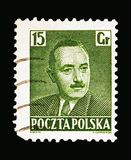 Boleslaw Bierut (1892-1956), President, serie, circa 1950. MOSCOW, RUSSIA - MAY 13, 2018: A stamp printed in Poland shows Boleslaw Bierut (1892-1956), President stock photos