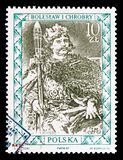 Boleslaw I Chrobry, Portraits of Polish Rulers serie, circa 1987. MOSCOW, RUSSIA - AUGUST 18, 2018: A stamp printed in Poland shows Boleslaw I Chrobry, Portraits royalty free stock photos
