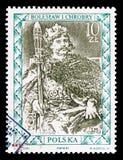 Boleslaw I Chrobry, Portretten van Poolse Heersers serie, circa 1987 royalty-vrije stock foto's
