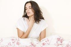 bolesnego gardła kobieta zdjęcia stock