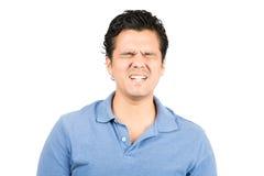 Bolesnego wyrazu twarzy Latynoski Męski Grimacing Fotografia Royalty Free