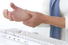 Bolesny nadgarstek - okupacyjna choroba Zdjęcie Stock