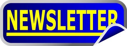 Boletín de noticias azul del botón Imagen de archivo