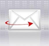 Boletín de noticias del email Foto de archivo libre de regalías