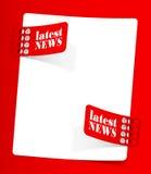 Boletín de noticias, elementos realistas del diseño Fotografía de archivo