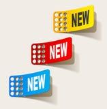 Boletín de noticias, elementos realistas del diseño Fotografía de archivo libre de regalías