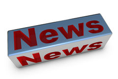 Boletín de noticias en el cubo Imágenes de archivo libres de regalías