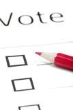 Boletín de votación fotos de archivo libres de regalías