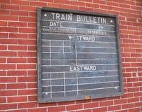 Boletín del tren foto de archivo libre de regalías