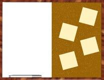 Boletín/tarjeta blanca imagen de archivo libre de regalías