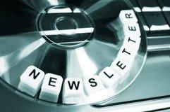 Boletim de notícias Fotografia de Stock