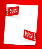 Boletim de notícias, elementos realísticos do projeto Fotografia de Stock