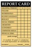 Boletín de notas de la High School secundaria Fotografía de archivo