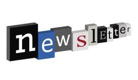 Boletín de noticias Foto de archivo libre de regalías