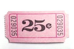 boleto 25c Foto de archivo libre de regalías