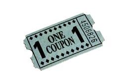 Boleto azul Fotos de archivo libres de regalías