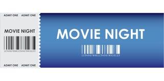 Boleto azul especial de la película Fotografía de archivo
