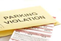 Boleto de estacionamiento Imagen de archivo