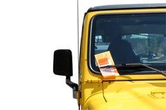 Boleto de estacionamiento Fotografía de archivo libre de regalías