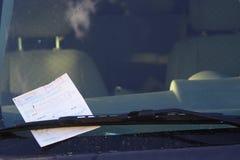 Boleto de estacionamiento Fotos de archivo libres de regalías