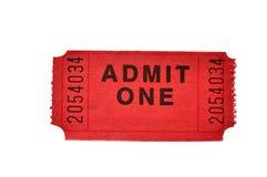 Boleto de la admisión (con el camino de recortes) Fotos de archivo