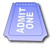 Boleto de la admisión Fotos de archivo libres de regalías