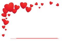 Boleto de la tarjeta del día de San Valentín Foto de archivo libre de regalías