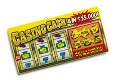 Boleto de lotería Imágenes de archivo libres de regalías