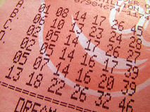 Boleto de lotería Imagenes de archivo