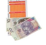 Boleto de lotería Foto de archivo libre de regalías