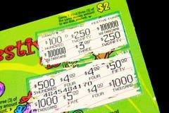 Boleto de loteria Imagen de archivo libre de regalías