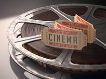 Boleto del cine Imagen de archivo libre de regalías